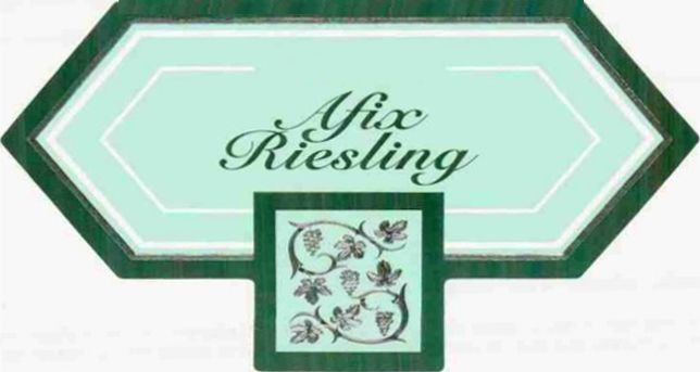Jermann Afix Riesling 2010 Front Label