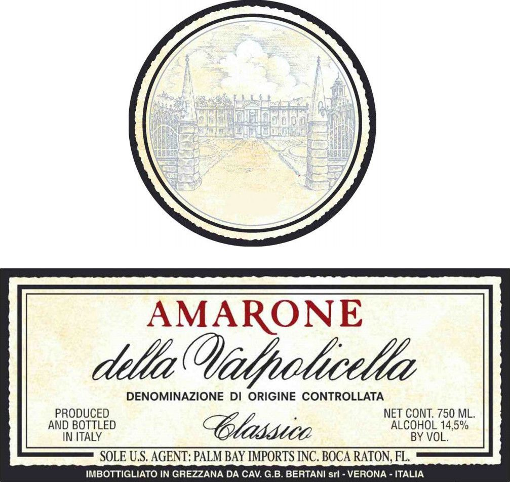 Bertani Amarone Classico 2011 Front Label