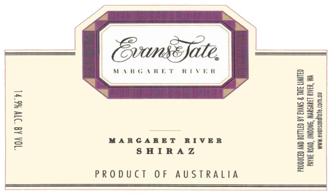 Evans & Tate Margaret River Shiraz 2011 Front Label