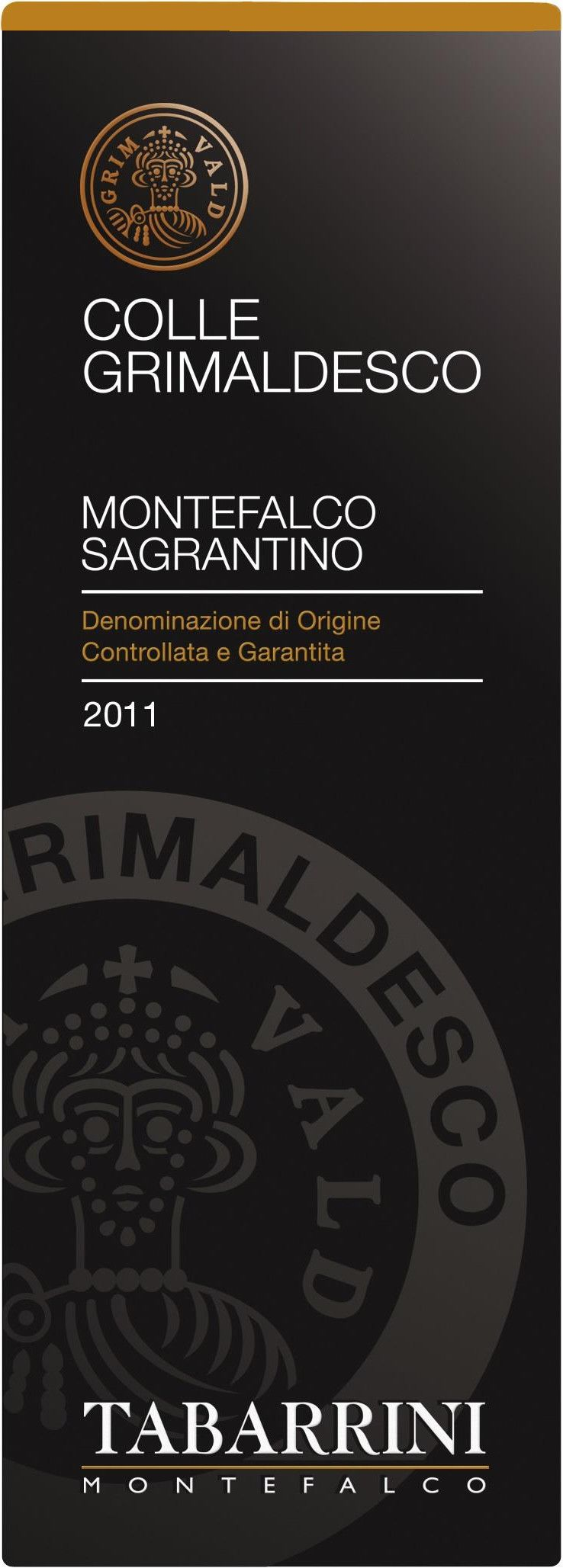 Tabarrini Sagrantino di Montefalco Grimaldesco 2011 Front Label