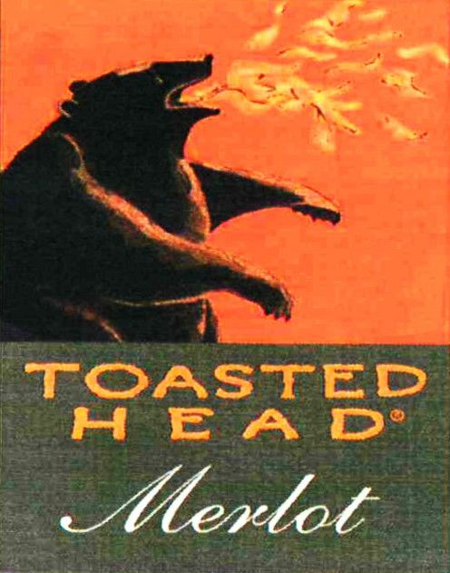 Toasted Head Merlot 2009  Front Label