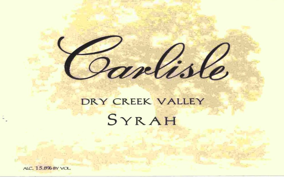 Carlisle Dry Creek Valley Syrah 2005 Front Label