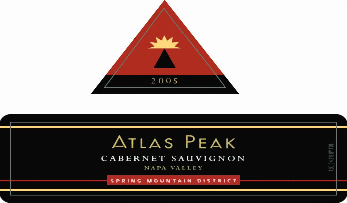 Atlas Peak Spring Mountain Cabernet Sauvignon 2005 Front Label