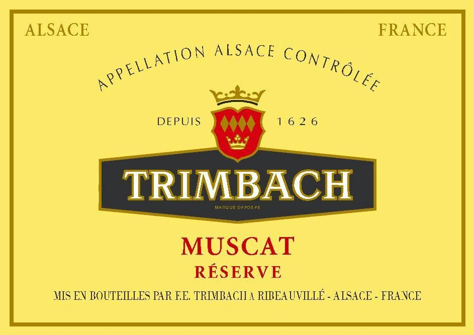 Trimbach Reserve Muscat 2012 Front Label