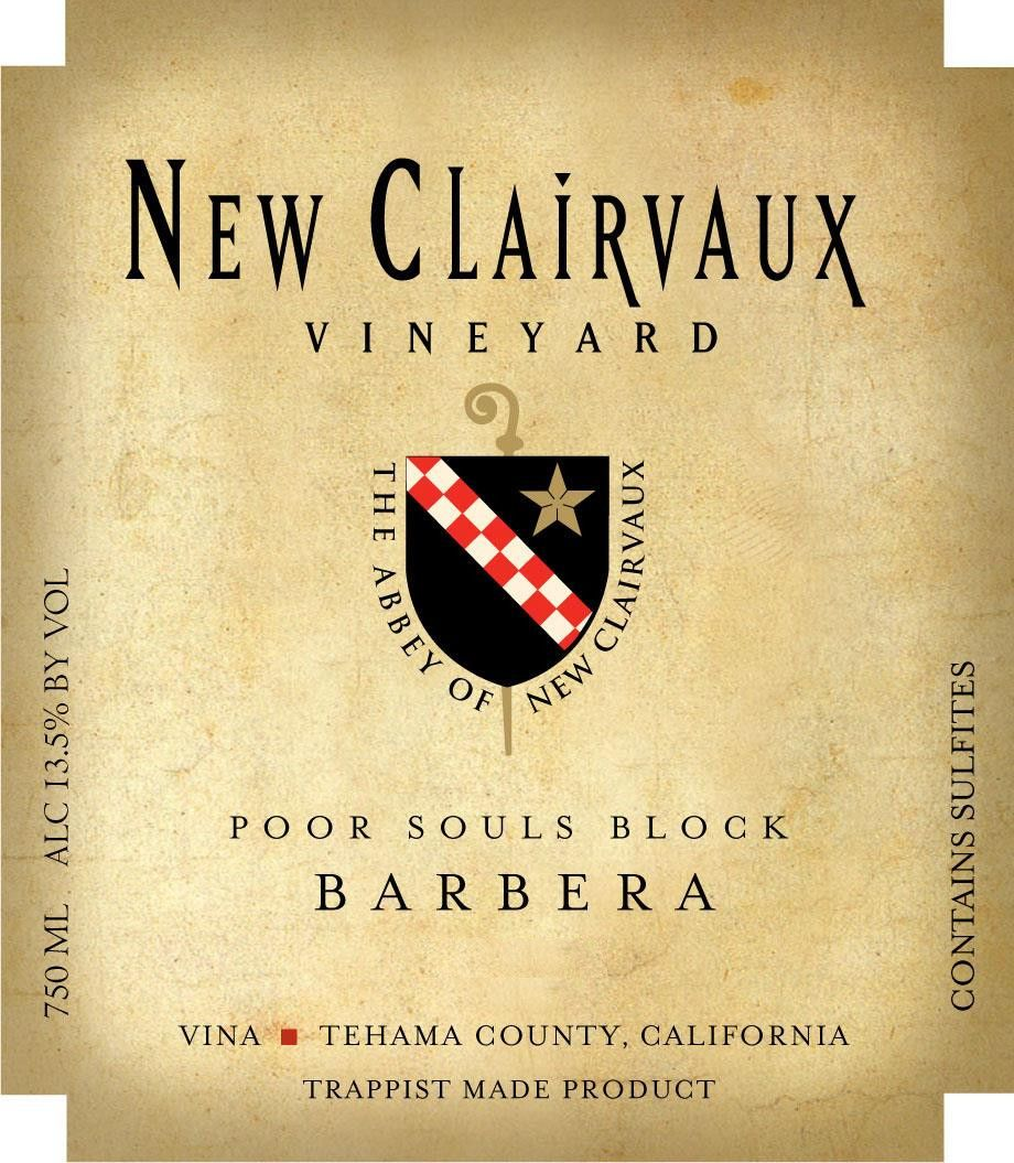 New Clairvaux Vineyard Poor Souls Block Barbera 2010 Front Label