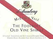 d'Arenberg The Footbolt Shiraz 2000 Front Label