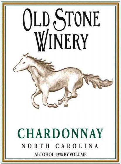 Old Stone Vineyard & Winery Chardonnay 2013 Front Label