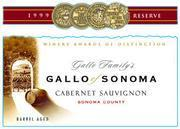 Gallo of Sonoma Cabernet Sauvignon 1999 Front Label