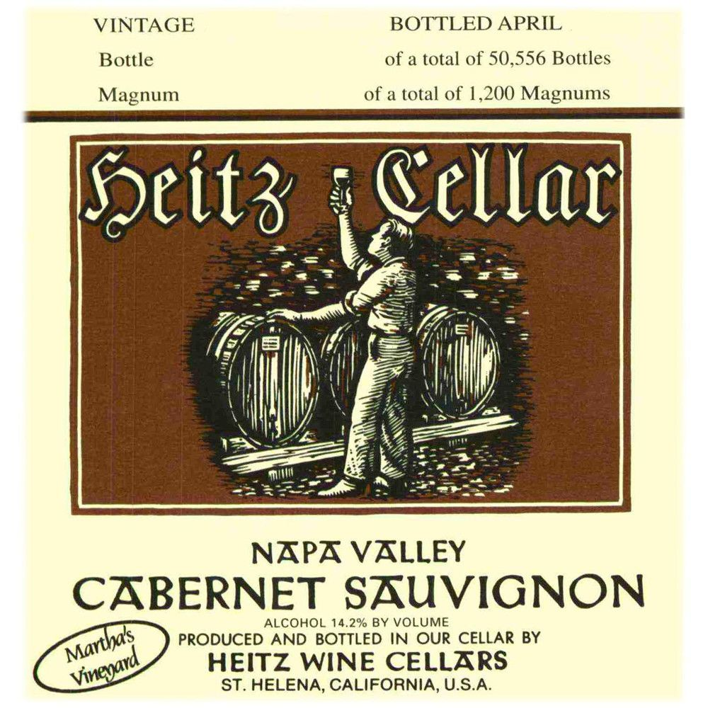 Heitz Cellar Martha's Vineyard Cabernet Sauvignon 1997 Front Label