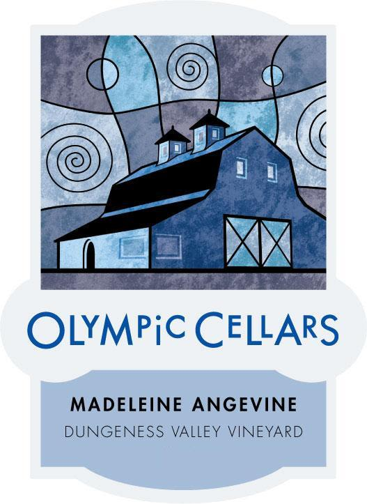 Olympic Cellars Winery Madeleine Angevine 2014 Front Label