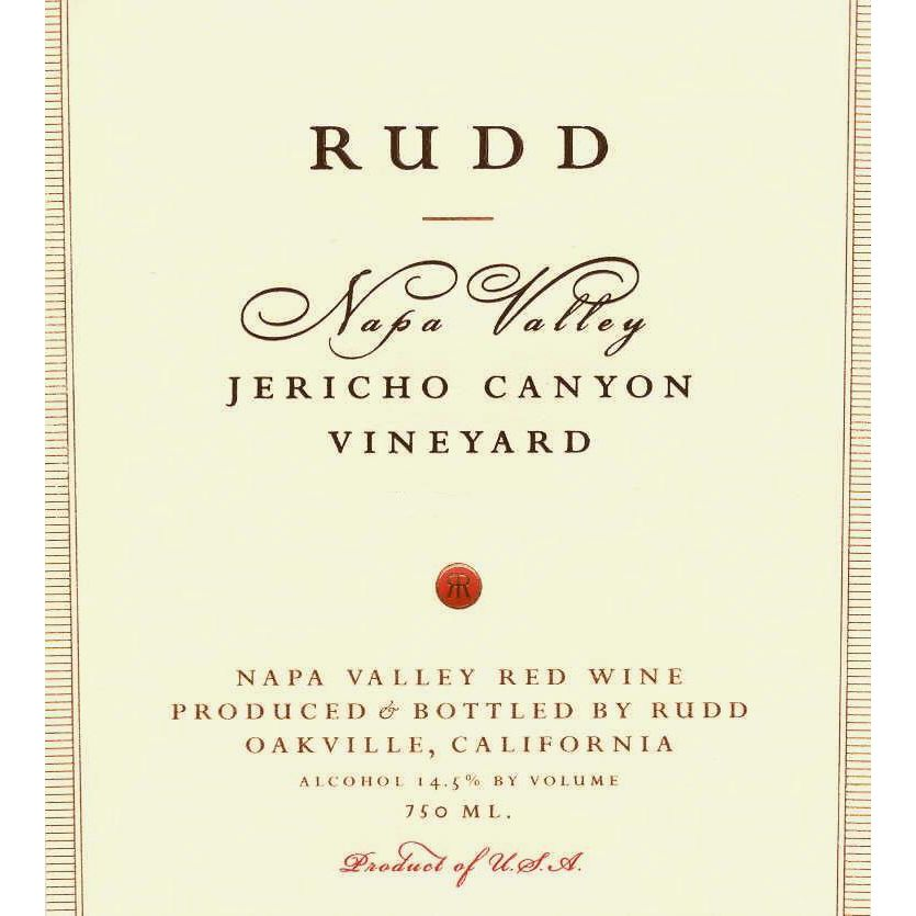 Rudd Jericho Canyon Vineyard Proprietary Red 1999 Front Label