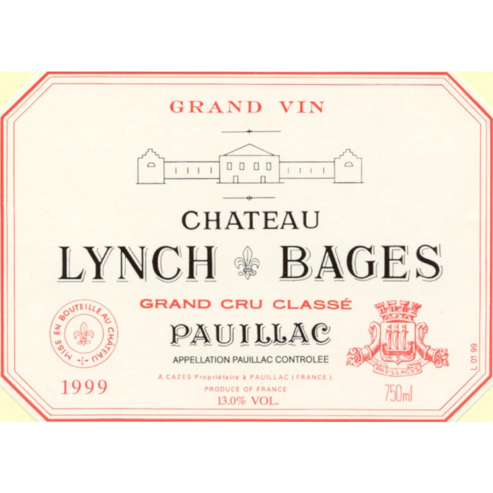 Chateau Lynch-Bages  1999 Front Label