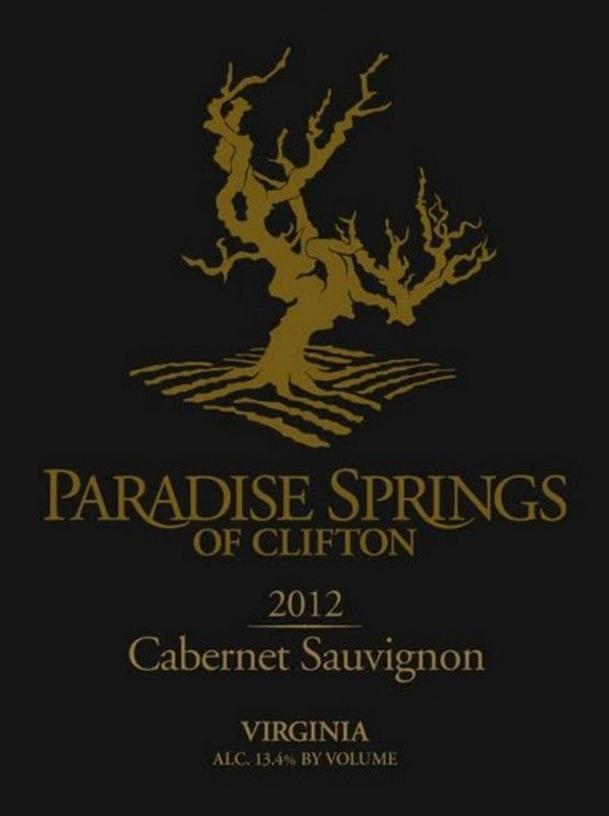 Paradise Springs Winery Cabernet Sauvignon 2012 Front Label