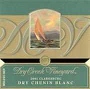 Dry Creek Vineyard Dry Chenin Blanc 2001 Front Label