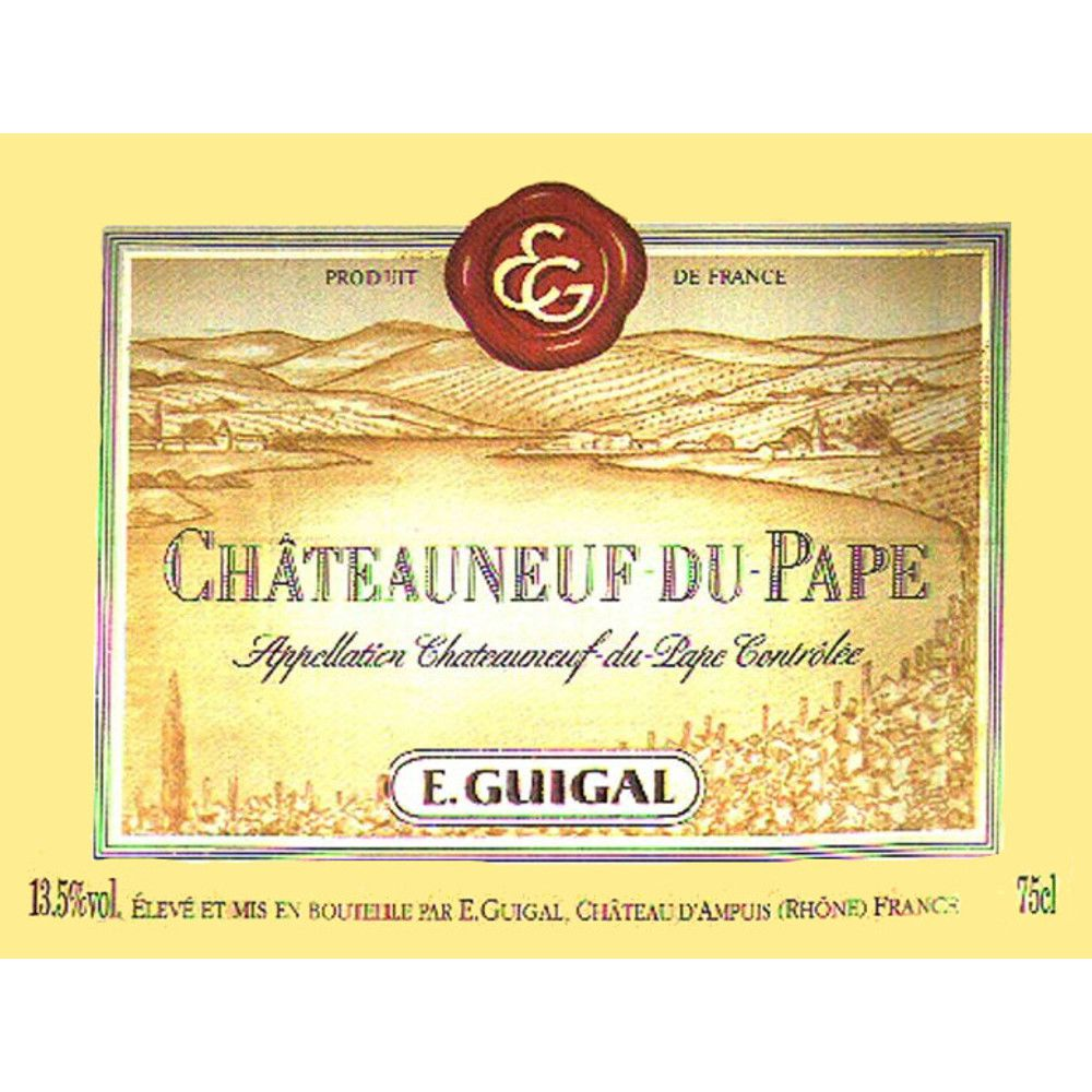 Guigal Chateauneuf-du-Pape 1999 Front Label