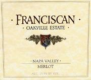 Franciscan Estate Merlot 2000 Front Label