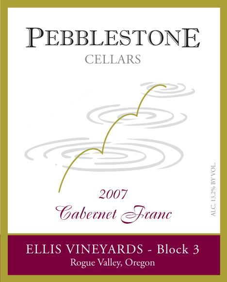 Pebblestone Cellars Ellis Vineyards Block 3 Cabernet Franc 2007 Front Label