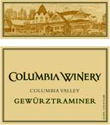 Columbia Winery Gewurztraminer 2001 Front Label