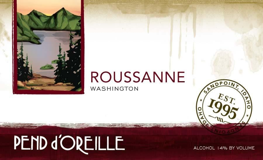Pend d'Oreille Winery Roussanne 2015 Front Label