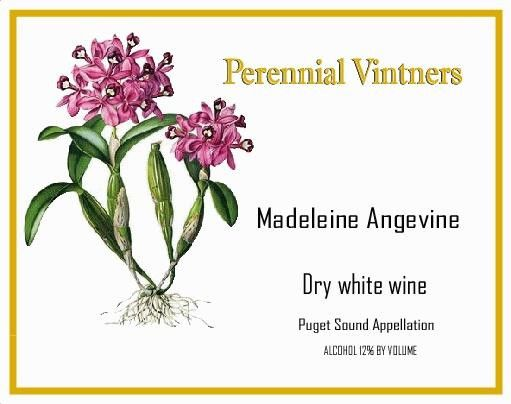 Perennial Vintners Dry Madeleine Angevine 2014 Front Label
