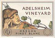 Adelsheim Pinot Blanc 2001 Front Label