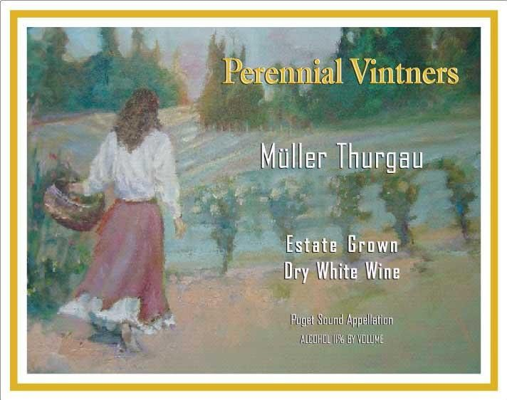 Perennial Vintners Estate Grown Dry Muller Thurgau 2010 Front Label