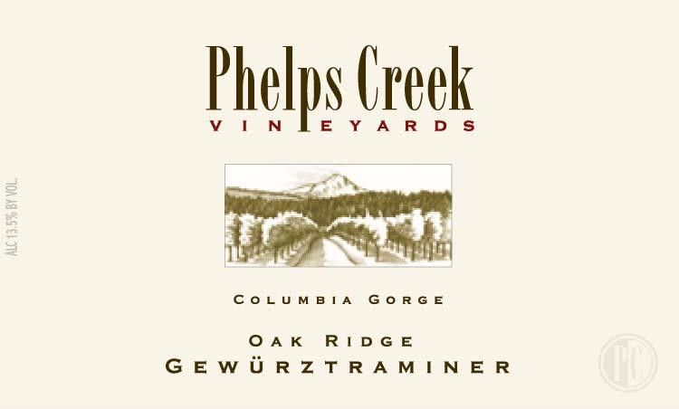 Phelps Creek Wines Oakridge Gewurztraminer 2009 Front Label