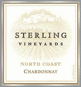 Sterling North Coast Chardonnay 2001 Front Label