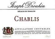 Joseph Drouhin Chablis (half-bottle) 2001 Front Label