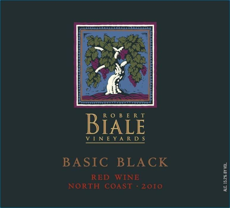 Robert Biale Vineyards Basic Black Red 2010  Front Label