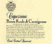 Capezzana Barco Reale 2001 Front Label