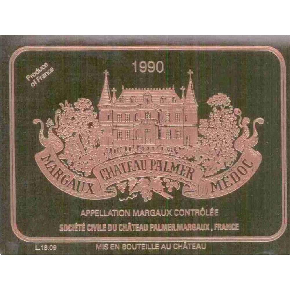 Chateau Palmer  1990 Front Label