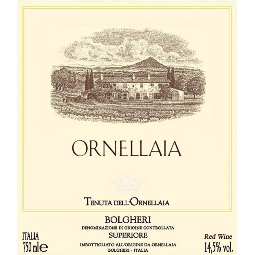 Ornellaia  1999 Front Label