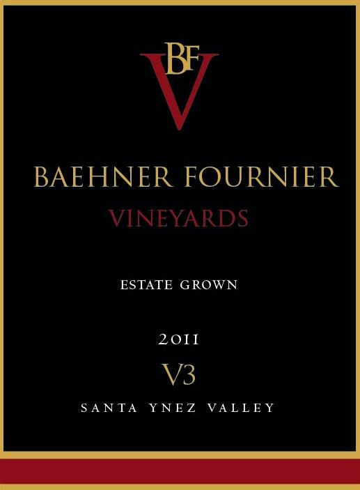 Baehner Fournier Vineyards V3 2011 Front Label