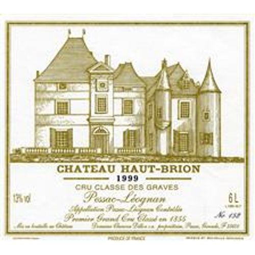 Chateau Haut-Brion (stained label) 1999 Front Label