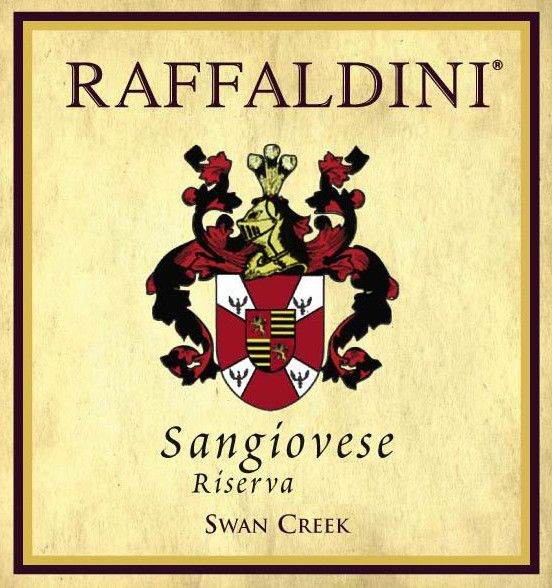 Raffaldini Vineyards & Winery, LLC. Riserva Sangiovese 2012 Front Label