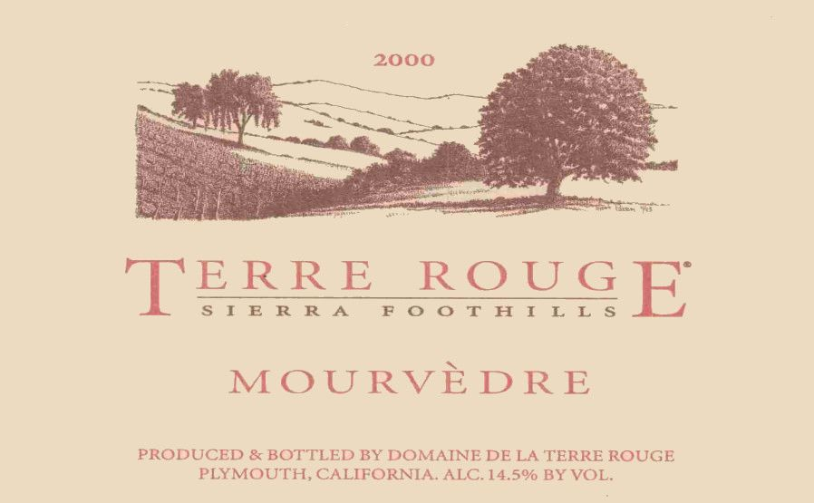 Terre Rouge Mourvedre 2000  Front Label