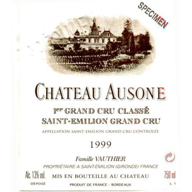 Chateau Ausone  1999 Front Label