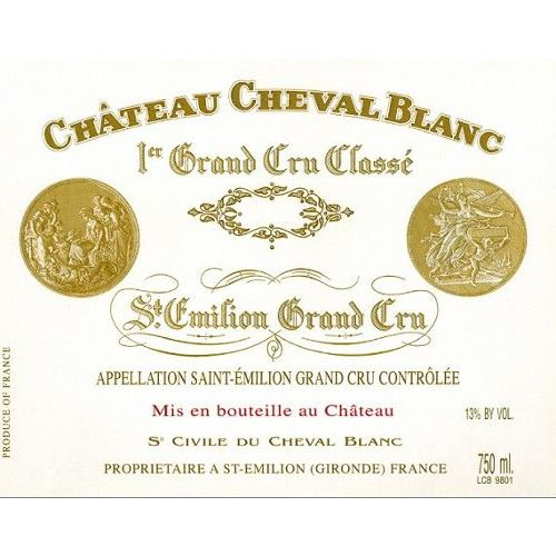 Chateau Cheval Blanc (scuffed labels) 1999 Front Label