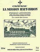 Chateau La Mission Haut-Brion  1999 Front Label