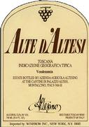 Altesino Alte di Altesi 1999 Front Label