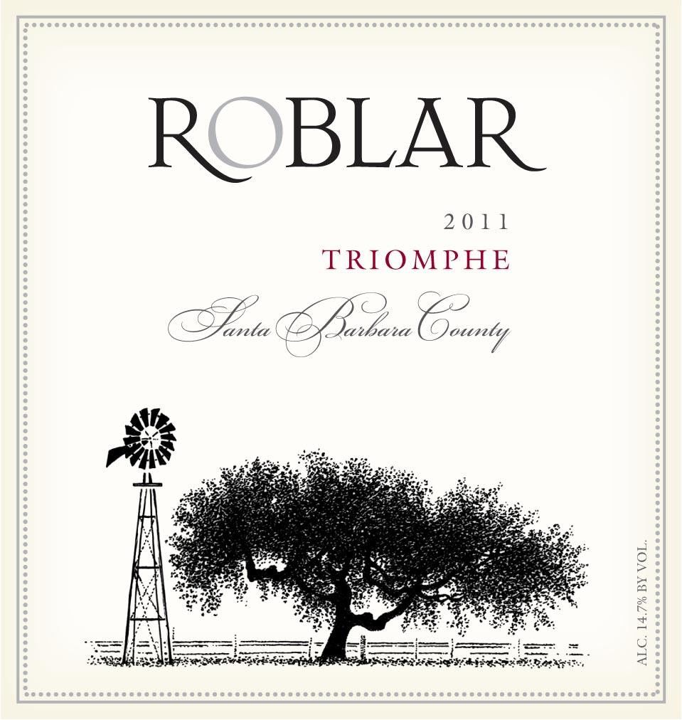 Roblar Winery Triomphe 2011 Front Label