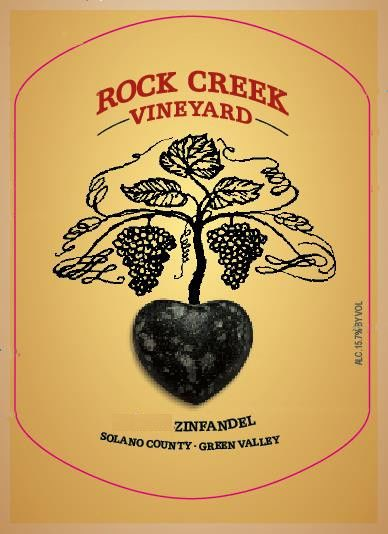 Rock Creek Vineyard Zinfandel 2011 Front Label