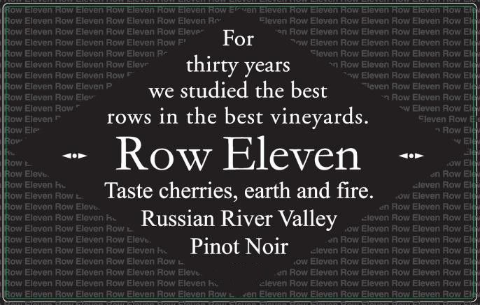 Row Eleven Russian River Pinot Noir 2014 Front Label