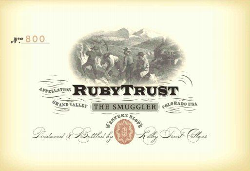Ruby Trust Cellars The Smuggler Red 2013 Front Label