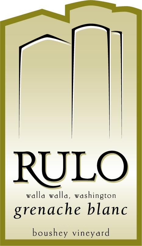 Rulo Winery Grenache Blanc 2012 Front Label