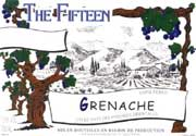 The Fifteen Grenache 2001 Front Label