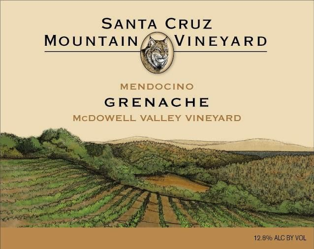 Santa Cruz Mountain Vineyard Grenache McDowell Valley 2010 Front Label