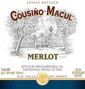 Cousino Macul Merlot 2002 Front Label