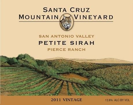 Santa Cruz Mountain Vineyard Pierce Ranch Petite Sirah 2011 Front Label